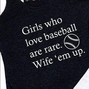 Baseball girl wife em up
